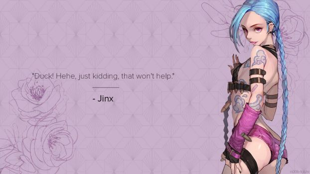 Jinx LOL Wallpaper Ver. by n00b-toshi