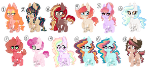 Adopts Pony Batch !CLOSED! by Hazel-And-Rowan