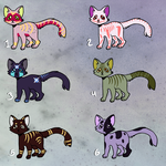 More cat adopts! 5-10 Points (open) by SparrowWrightheart