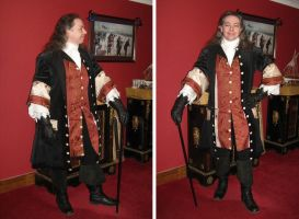 Red and Black Coat and Waistcoat by paul-rosenkavalier