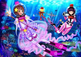 Clear Card Arc Cardcaptor Sakura LAMA Scuba by The-Sakura-Samurai