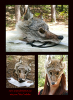 SOLD: Western Coyote Face Mask by Canis-Angst