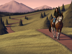 Trail in the Hills by araignee-cafe