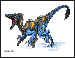 Best of Inktober 2016 - Raptor Alpha marker sketch by AlmightyRayzilla