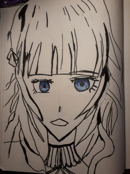 Quick Doodle. (Not finished) Fan Art Cardia Code R by CatgirlLizzie1234