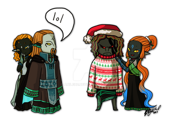 Ugly Christmas Sweater by Anilede