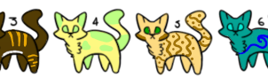 Cat adoptables [7/8 OPEN] by Ravenstorm-Foralle