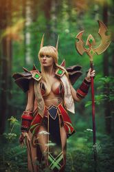 blood elf warlock by Uzuchi