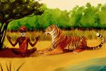 The Sadhu and the tiger by Lelia