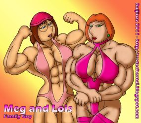 Muscle Meg and Lois by raijinzz