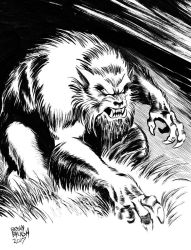 INKTOBER 2017 Day 1: Prowling Beast by BryanBaugh