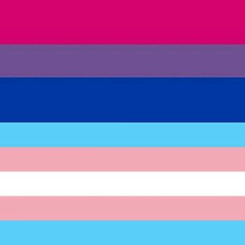 the transgender and bisexual flag by Trash1200