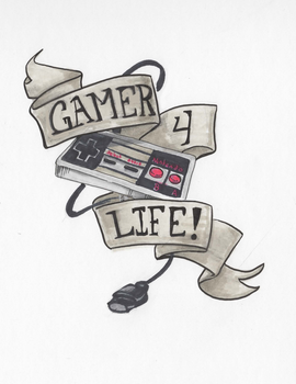 Gamer4life NES by The-Z