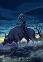 Wolf Rider 'concept' The Hobbit by MrSameface