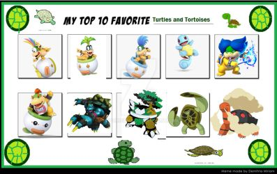 My top 10 favorite turtle characters by LopDrieuna