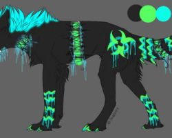 Glow wolf 3 {ANIMATED ADOPT} *CLOSED by Flare-goes-OM-adopts
