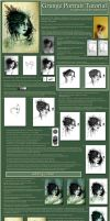 Grunge Portrait tutorial by Tigers-stock