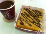 Chocolate and Peanut Butter Toast with Coffee by njomany
