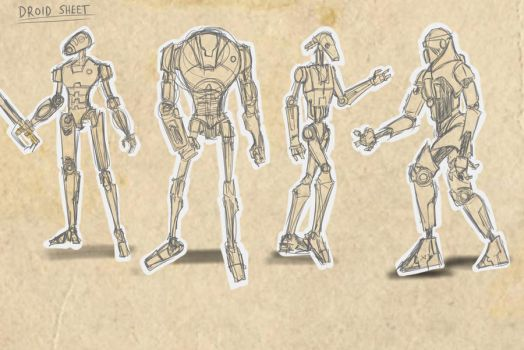 Droid sketch page by commander-13
