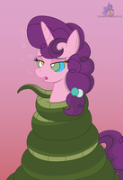 Sugar Belle in Chimera's coils by LunaHazACookie