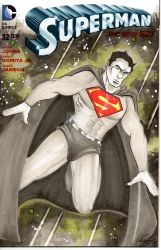Superman #32 Sketch Cover by rodneyfyke