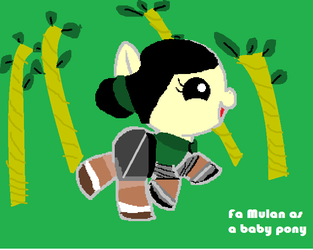 Mulan as a baby pony by jacque-is-awesome