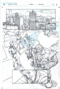 Fantastic Four sample page 1 by druje