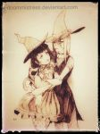 Day 29 a witchy couple by DoomMistress