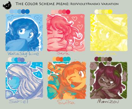 The Color Scheme Meme - Touhou Edition by InfernoWizard