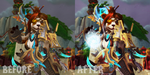 Nualani Comparison Before and After by NevanGoth