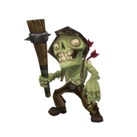 Low Poly Zombie Commoner by bitgem