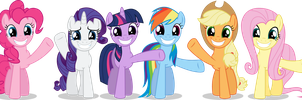 Smile And Wave Girls - No Background by TomFraggle