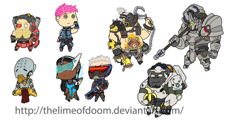 More Overwatch chibis by thelimeofdoom