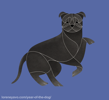 Year of the Dog - Staffordshire Bull Terrier by Kelgrid