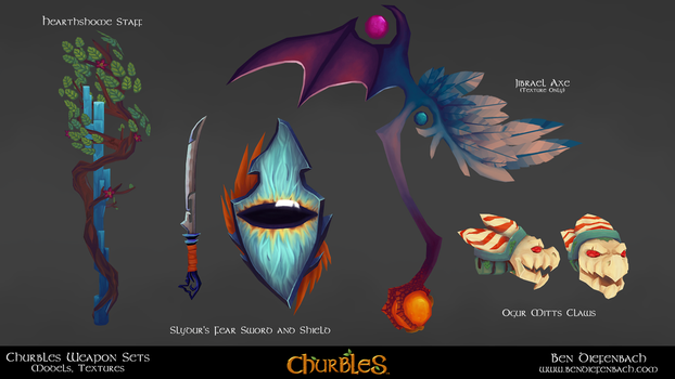Churbles: Weapons 01a by darkmag07