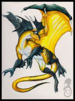 Yellow and Black by jaxxblackfox