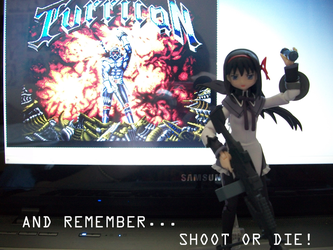 Turrican title screen parody with Homura by bezefang