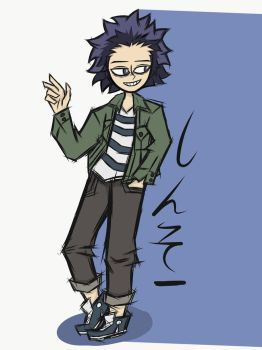 My Hero Academia- Casual Hitoshi by piktips