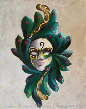 Peacock Mask by Nomina-Domini
