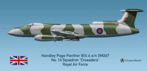 RAF Handley Page Panther B(I).4 - Falklands 1982 by comradeloganov