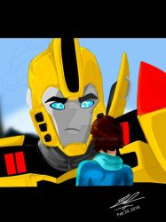Transformers RID 2015- Bumblebee and Russell  by 2002dragon