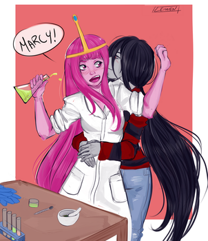 Marcy and Bonnibel by LeiwenArt