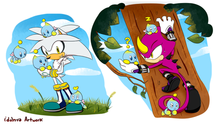 Silver and Espio Chao mission by idolnya