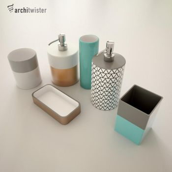 Bathroom Accesoirs (3d Models) by architwister