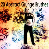 20 Abstract Grunge Brushes by XResch