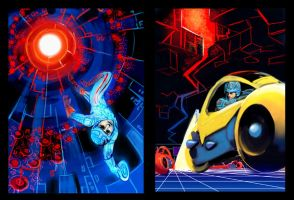 Tron: Poster Reworkings by Risachantag
