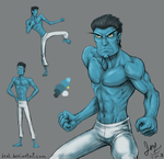 N. Tropy sketches (martial arts style) by JenL