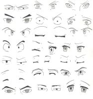 Manga eyes by DensetsuNoLuka