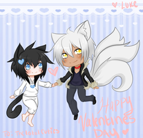 Happy Valentines Day to Cal and Sai by Mahou-Ouji