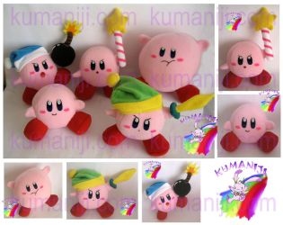 KIRBY PLUSHIES by chocoloverx3